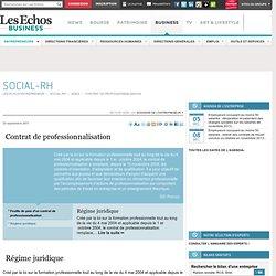 Diversité des contrats - Régime juridique, Contrat de professionnalisation