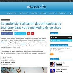 La professionnalisation des entreprises du tourisme dans votre marketing de services