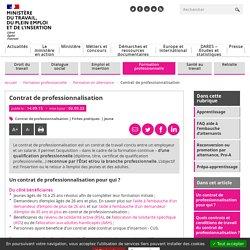Contrat de professionnalisation - Alternance