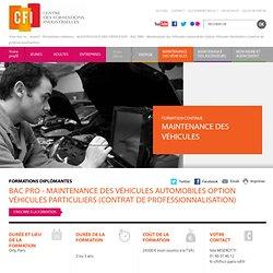BAC PRO - Maintenance des Véhicules Automobiles Option Véhicules Particuliers (contrat de professionnalisation)