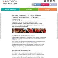 L'offre de professionnalisation s'ouvre aux acteurs de l'Efop