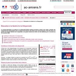 Espace Professionnel-Accompagnement pédagogique-Éducation à la Santé et à la Citoyenneté