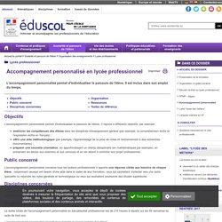 Lycée professionnel - Accompagnement personnalisé