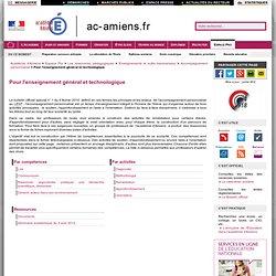 Académie d'Amiens -Pour l'enseignement général et technologique