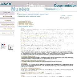 espace professionnel - documenter les collections - ressources en ligne - catalogues de collections de musées