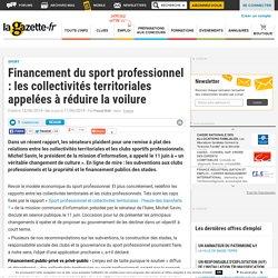 Financement du sport professionnel : les collectivités territoriales appelées à réduire la voilure