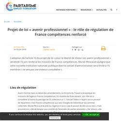 Projet de loi « avenir professionnel » : le rôle de régulation de France compétences renforcé