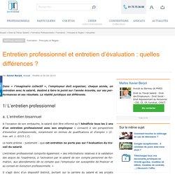 Entretien professionnel et entretien d'évaluation : quelles différences ?