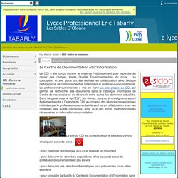 Lycée Professionnel Eric Tabarly - Les Sables D'Olonne - Le Centre de Documentation et d'Information