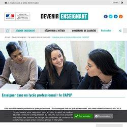 Enseigner dans un lycée professionnel : le CAPLP - Devenir enseignant