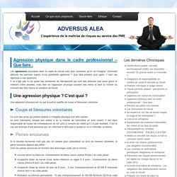 » Agression physique dans le cadre professionnel – Que faire , - Adversus Alea - L'expérience de la maitrise de risques au services des PME.