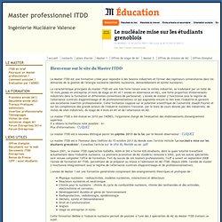 Master professionnel ITDD - Ingéniérie Tracabilité et Développement durable - UJF Grenoble