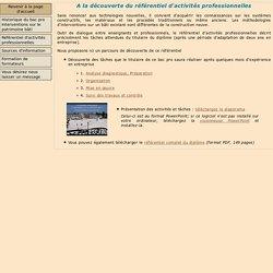 """Baccalauréat professionnel """"Interventions sur le patrimoine bâti"""""""