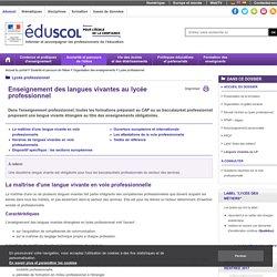 Lycée professionnel - Langues vivantes au LP
