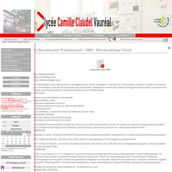 Le Baccalauréat Professionnel / AMA / Marchandisage Visuel - Lycée Camille Claudel de Vauréal