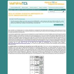 TICE et maths-sciences-physiques en lycée professionnel (4/4)