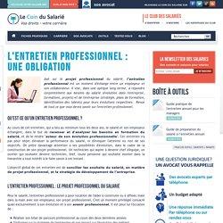 Annexe 5 : L'entretien professionnel : une obligation