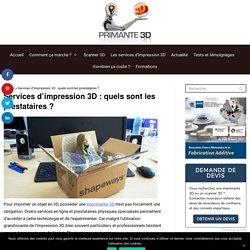 ⇒ Service impression 3D en ligne professionnel ou particulier