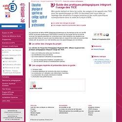 Guide des pratiques pédagogiques intégrant l'usage des TICE