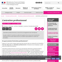 L'entretien professionnel - Formation professionnelle des salariés