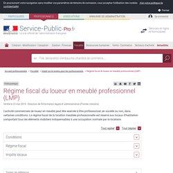 Régime fiscal du loueur en meublé professionnel (LMP) - professionnels