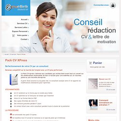 CV optimisé par un professionnel du recrutement | Pack CV XPress