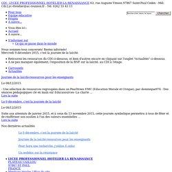 CDI - LYCEE PROFESSIONNEL HOTELIER LA RENAISSANCE