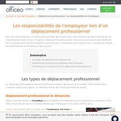 ▷ Déplacement professionnel : les responsabilités de l'employeur