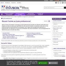Lycée professionnel - Réussir l'entrée au lycée professionnel