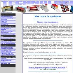Site professionnel de Stephane Vercleven pour la Technologie au collège