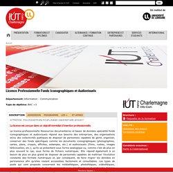 Licence Professionnelle Ressources documentaires et Bases de données Fonds Iconographiques et Audiovisuels