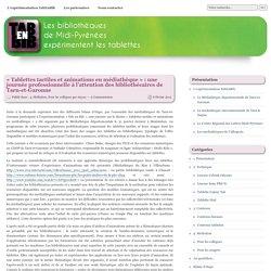 «Tablettes tactiles et animations en médiathèque»: une journée professionnelle à l'attention des bibliothécaires de Tarn-et-Garonne