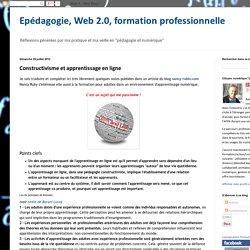 Constructivisme et apprentissage en ligne
