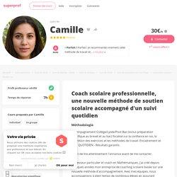 Camille - Lyon 6e,Rhône : Coach scolaire professionnelle, une nouvelle méthode de soutien scolaire accompagné d'un suivi quotidien