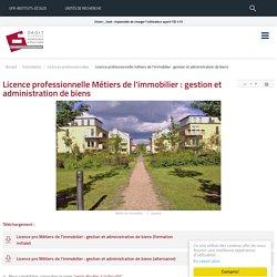 Licence professionnelle Métiers de l'immobilier : gestion et administration de biens - UFR DSEP - Université de Bourgogne