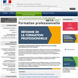 Formation professionnelle - Formation professionnelle/Apprentissage