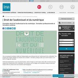 Formation professionnelle droit audiovisuel et droit multimédia