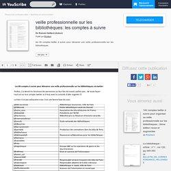 veille professionnelle sur les bibliothèques: les comptes à suivre - Romain Gaillard - Marketing et communication