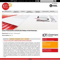 Licence Professionnelle Communication Publique et Outils Numériques