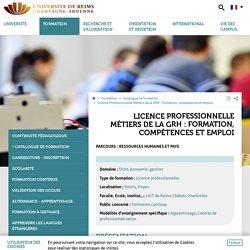 Licence Professionnelle Métiers de la GRH : Formation, compétences et emploi