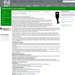 Licence professionnelle Métiers de l'édition : - Conception graphique multimédia