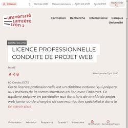 LICENCE PROFESSIONNELLE CONDUITE DE PROJET WEB