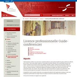 Licence professionnelle Guide-conférencier-Faculté des Sciences Historiques- Université de Strasbourg