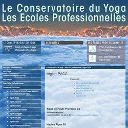 région PACA - Écoles de formation professionnelle - Conservatoire du Yoga