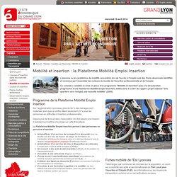 Insertion professionnelle Lyon, Mobilité Lyon, Développement économique