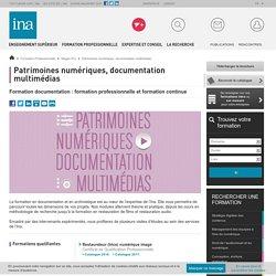 Formation professionnelle patrimoine numériques et documentation multimédia