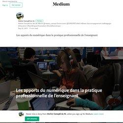 Les apports du numérique dans la pratique professionnelle de l'enseignant