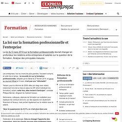 La loi sur la formation professionnelle et l'entreprise