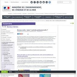 Drones civils : loisir ? activité professionnelle ? - Ministère de l'Environnement, de l'Energie et de la Mer