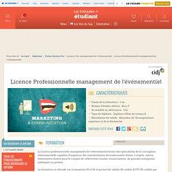 Licence Professionnelle management de l'événementiel – Figaro Étudiant